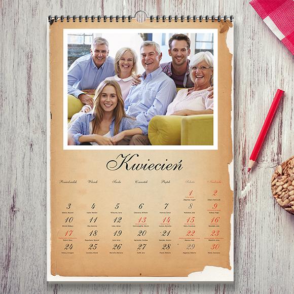 Fotokalendarze, trójdzielny, jednodzielny, 13 kartkowy