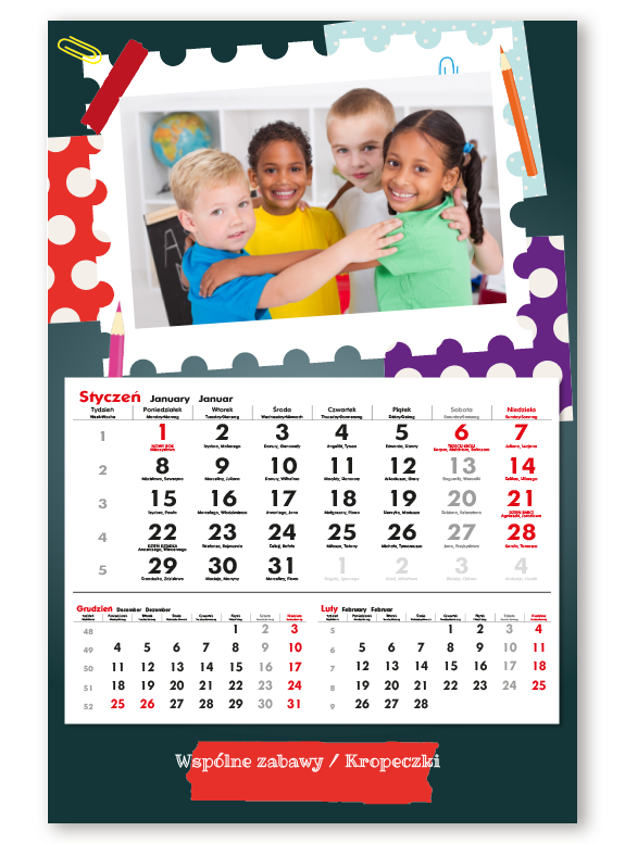 fotokalendarz jednodzielny