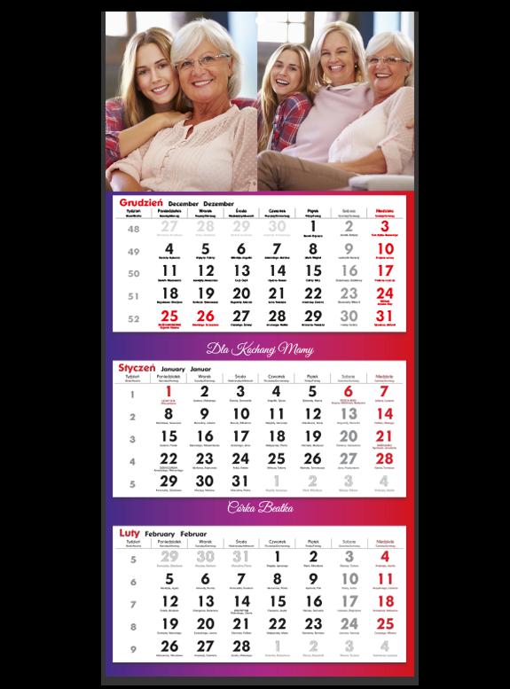 "Fotokalendarz trójdzileny ""Kochanej mamie"""