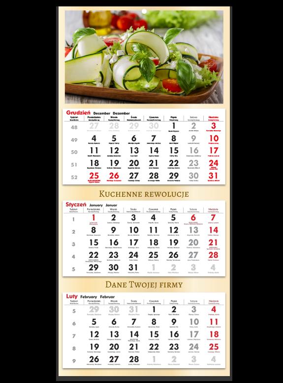 """Fotokalendarz trójdzielny """"Kuchenny"""""""