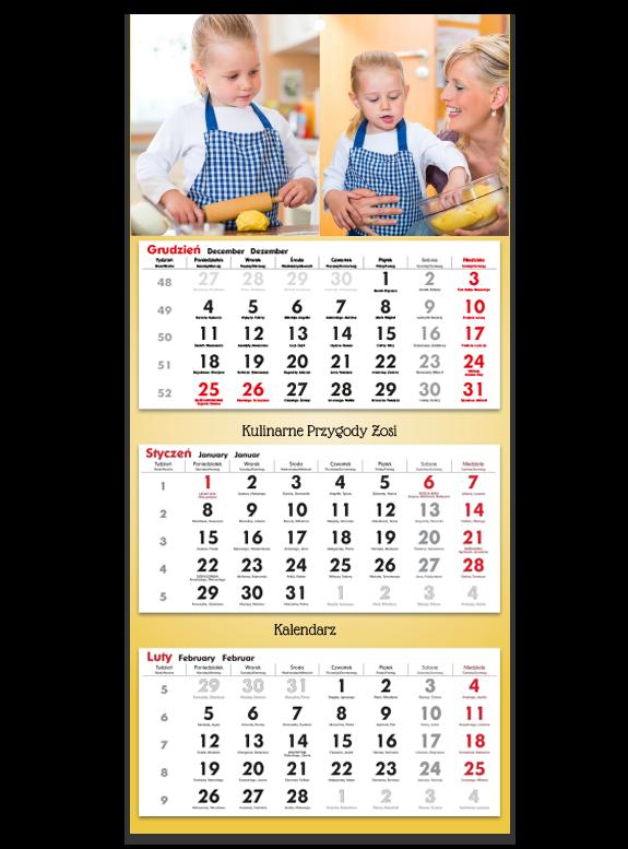"""Fotokalendarz trójdzielny """"Przygoda w kuchni"""""""