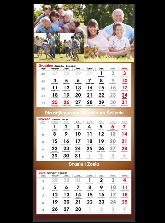 """Fotokalendarz trójdzielny """"Super dziadek"""""""