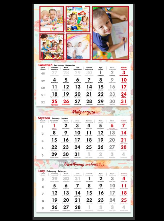 """Fotokalendarz trójdzielny """"Bohomazy"""""""