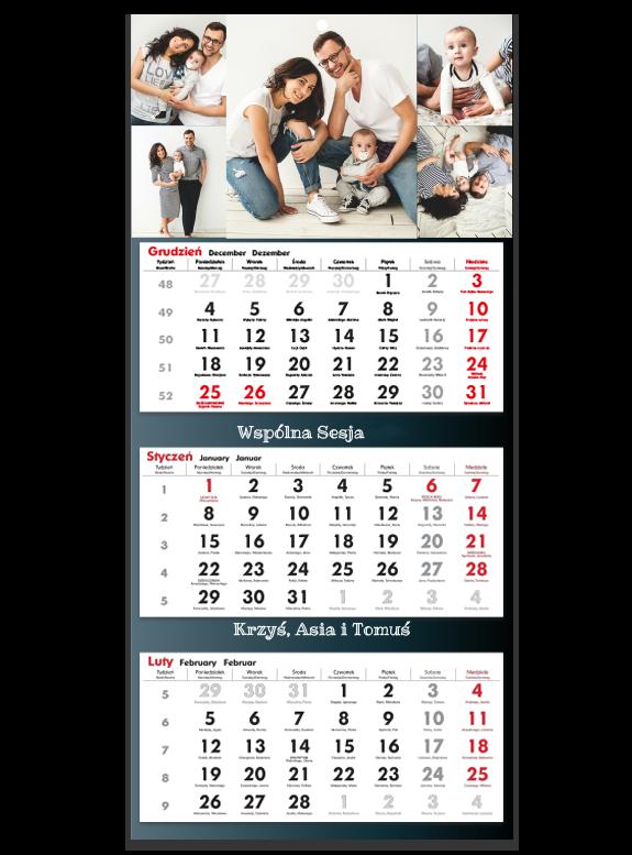 """Fotokalendarz trójdzielny """"Classic story"""""""