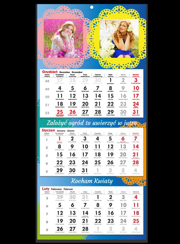 """Fotokalendarz trójdzielny """"Kwiaty"""""""