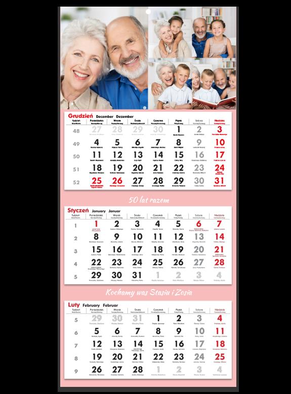"""Fotokalendarz trójdzielny """"Na zawsze razem"""""""