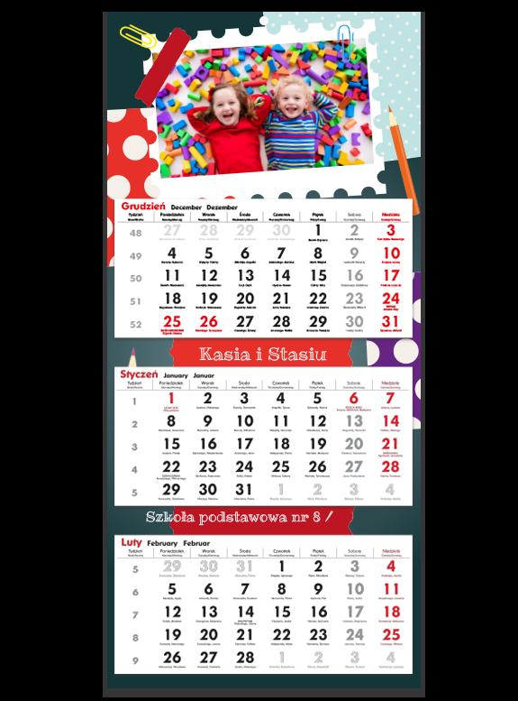 """Kalendarz trójdzielny """"Przedszkolaki"""""""