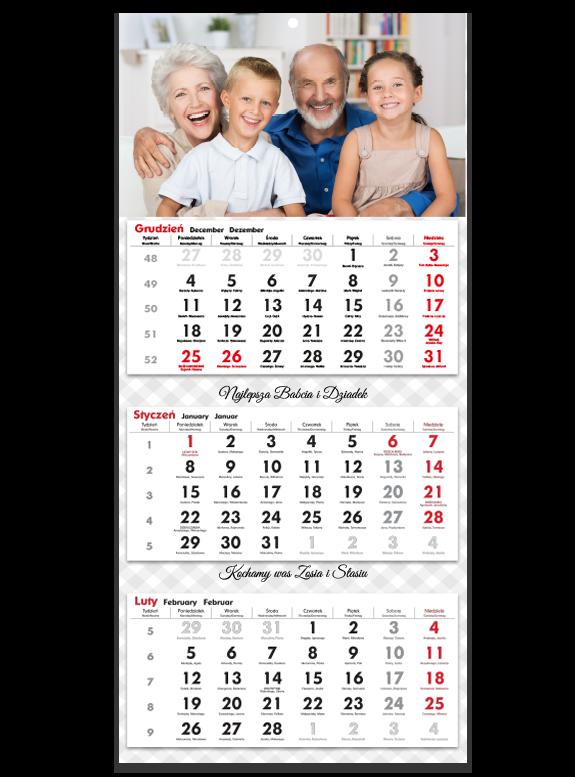 """Fotokalendarz trójdzielny """"Super dziadkowie"""""""