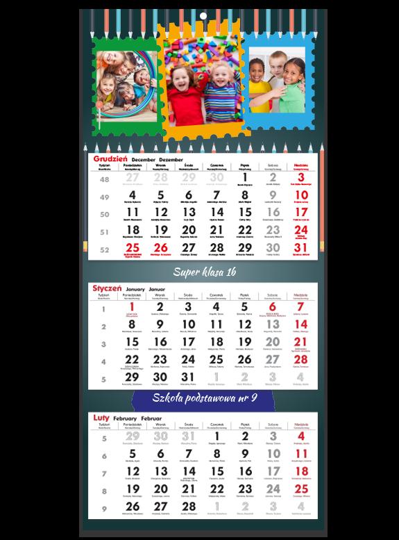 """Kalendarz trójdzielny """"Szkoła"""""""