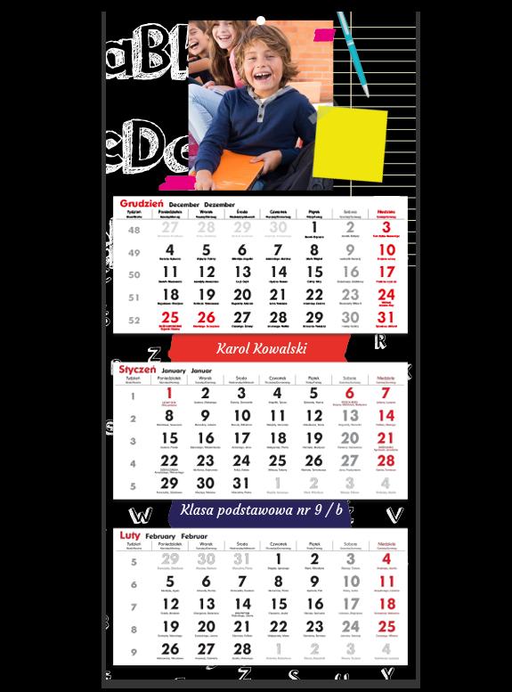 """Fotokalendarz trójdzielny """"Szkolne wspomnienie"""""""