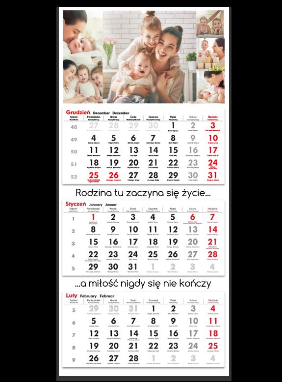 """Fotokalendarz trójdzielny """"White classic"""""""